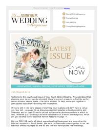 Your South Wales Wedding magazine - July 2019 newsletter