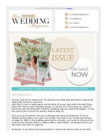 Your Yorkshire Wedding magazine - July 2019 newsletter