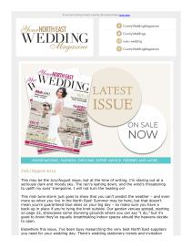 Your North East Wedding magazine - July 2019 newsletter