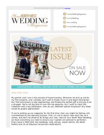 Your North West Wedding magazine - July 2019 newsletter