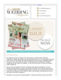 Your Yorkshire Wedding magazine - August 2019 newsletter