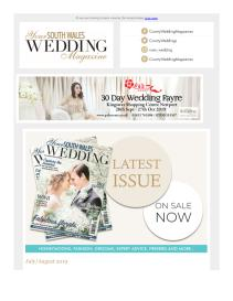 Your South Wales Wedding magazine - August 2019 newsletter