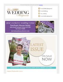 Your Surrey Wedding magazine - August 2019 newsletter