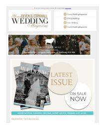 Your Devon & Cornwall Wedding magazine - September 2019 newsletter