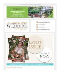 Your Hampshire & Dorset Wedding magazine - September 2019 newsletter
