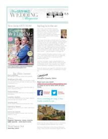 Your South Wales Wedding magazine - March 2014 newsletter