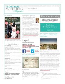 Your West Midlands Wedding magazine - March 2014 newsletter