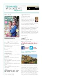Your South Wales Wedding magazine - April 2014 newsletter