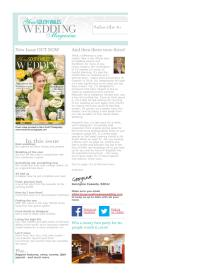 Your South Wales Wedding magazine - May 2014 newsletter