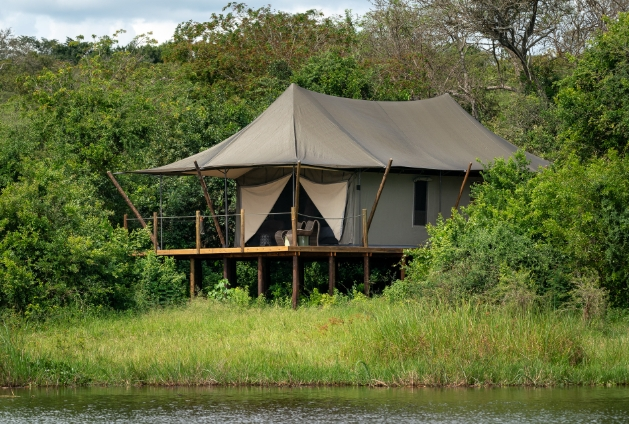 tent style accommodation in the wilderness