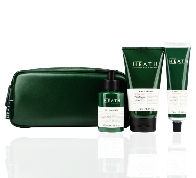 Products and washbag in green from Heath