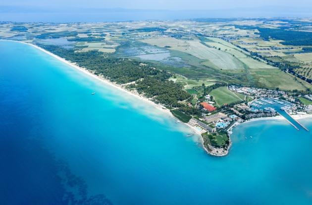 Sani Resort aerial view