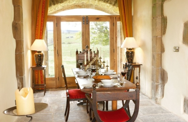 dining table in castle