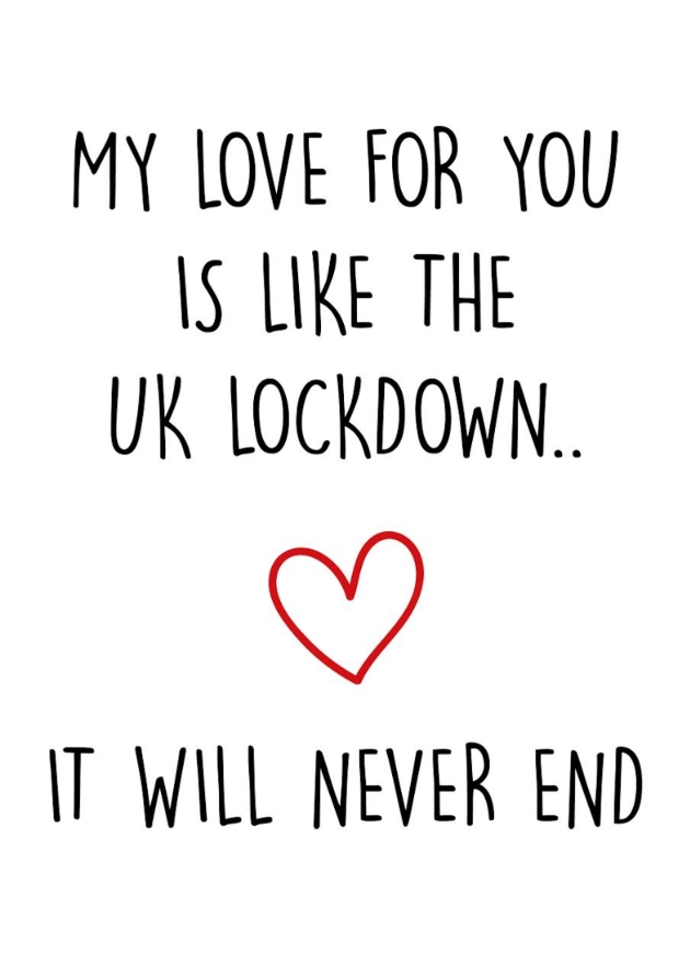 funny card about lockdown