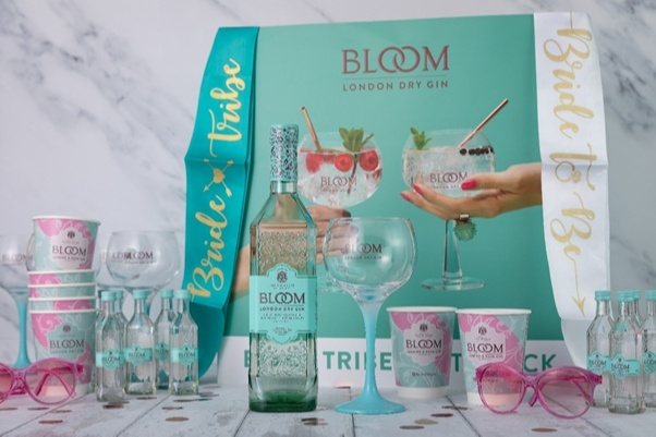 gin collection with bride hen do items