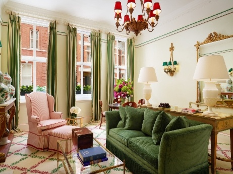 large suite traditional in style with sofa and armchair