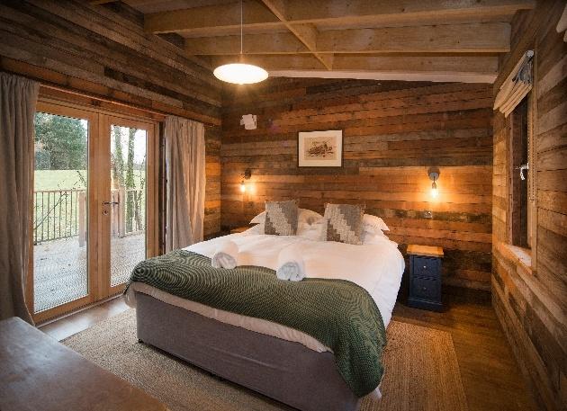 dark wood bedroom