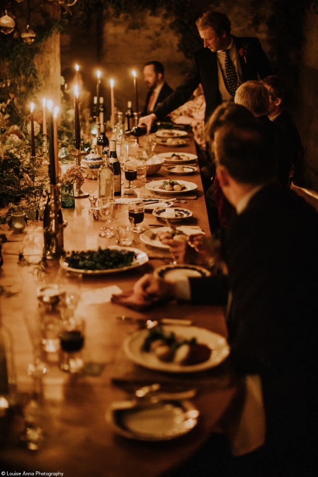 wedding reception table candles for lighting