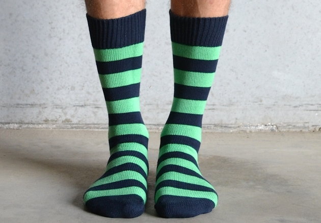 navy and green stripe