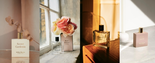 selection of Miller Harris fragrances for brides