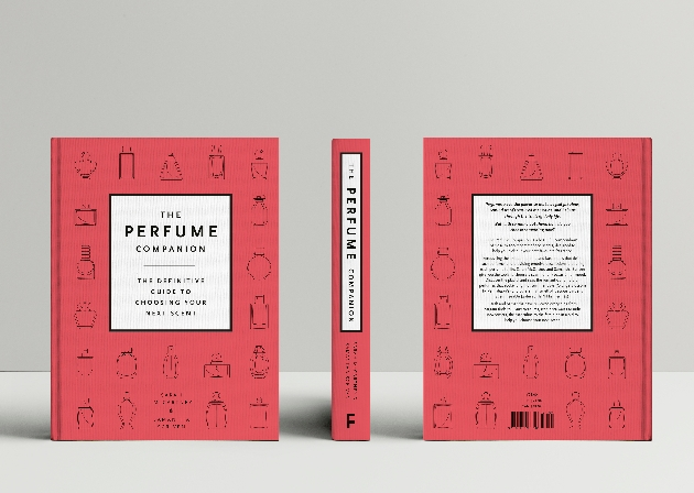 Front, back and spine of new book The Perfume Companion