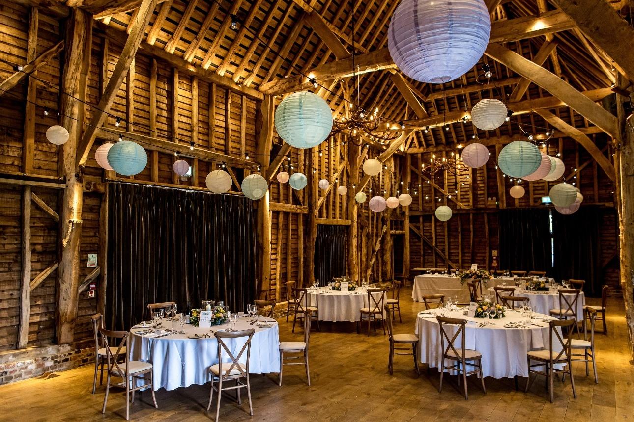 Lanterns decorating venue