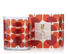 an Orla Kiely geranium scented candle, worth £25