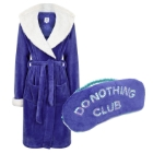 a Chelsea Peers NYC dressing gown and eye mask set, worth £40