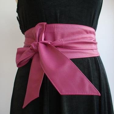 Handmade leather obi belts