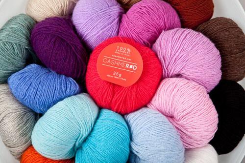 Cashmered pure cashmere yarn