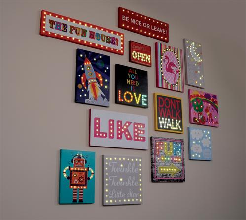 NEW Illuminated LED Light Up Canvases!