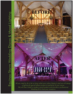 Venue Styling - Equinox-Storm Wedding Disco & Venue Decor Service