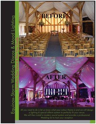 Venue Styling - Equinox-Storm Wedding Disco & Venue Decor Service