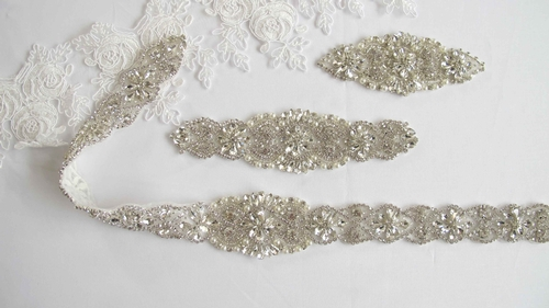 Rhinestone and crystal appliques and trims