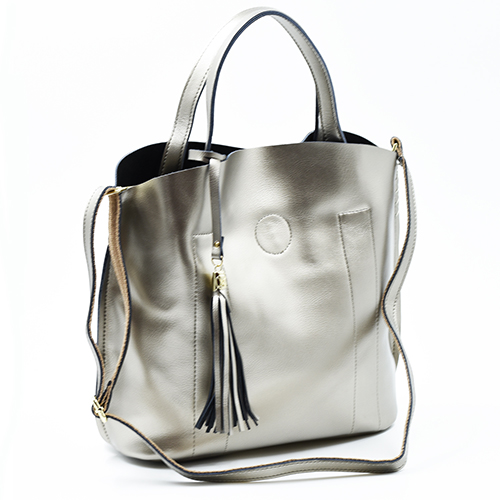 Leather and PU handbags in a range of styles and colours