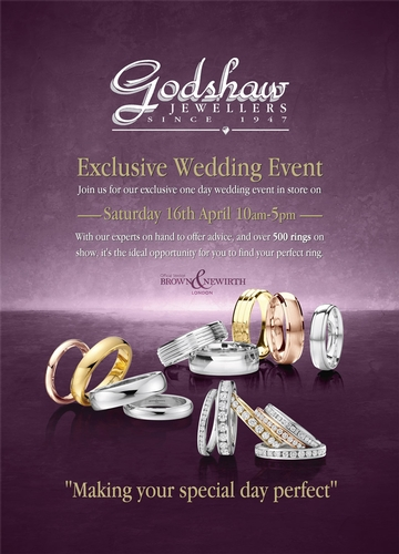 Wedding Fairs & Events - Godshaw Jewellers
