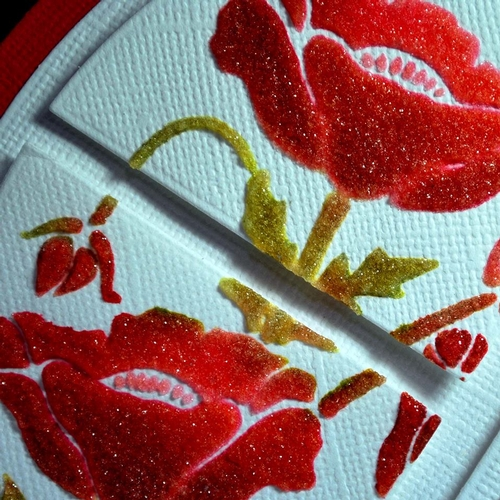 Sweet Poppy Stencils, Mediums, Mica Powders and Glitters