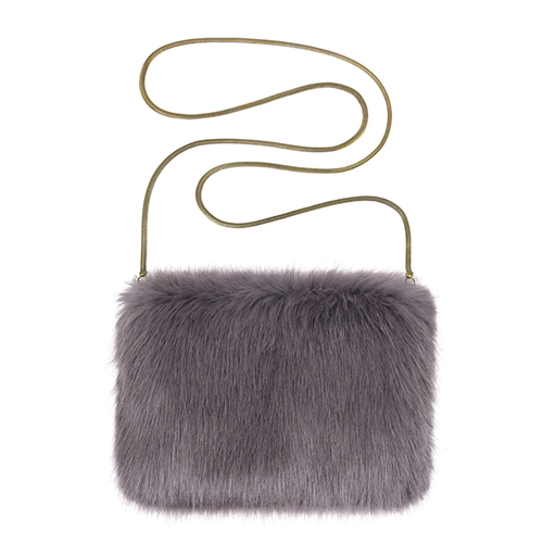 Pom Pom Clutch Bag and Chain Bag