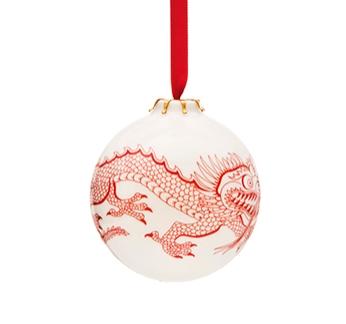 English Bone China Christmas Baubles