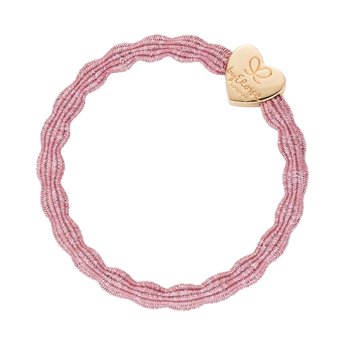 byEloise London - Metallic Gold Heart Rose Pink