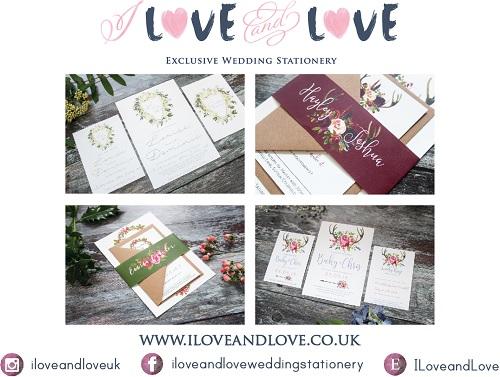 I Love and Love Wedding Stationery