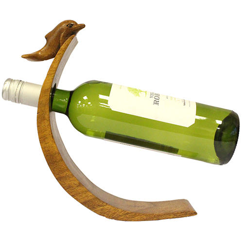 Suar Wood Balance Wine Holders