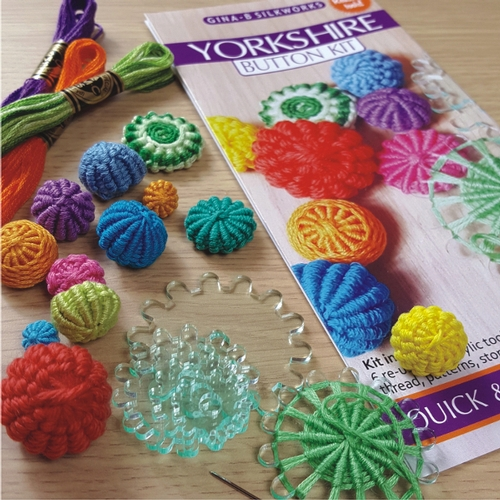 Button making kits and materials