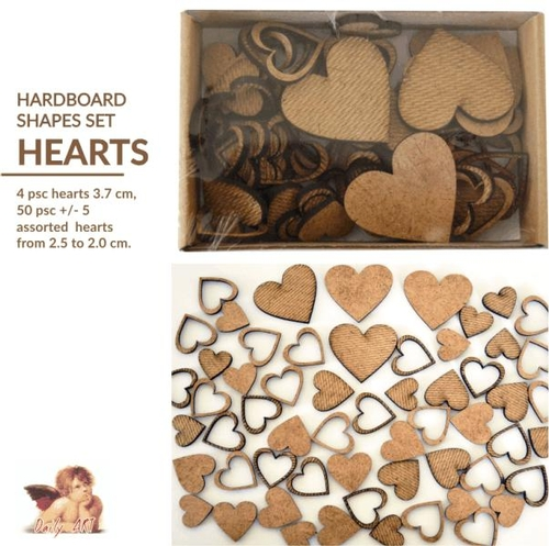 MDF plaques, embellishments, houses and boxes