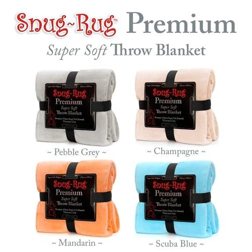 Snug-Rug DELUXE Sofa Blanket with Sleeves