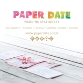 Paper Date Wedding Stationery